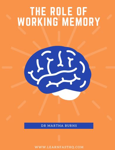 The role of working memory ebook cover